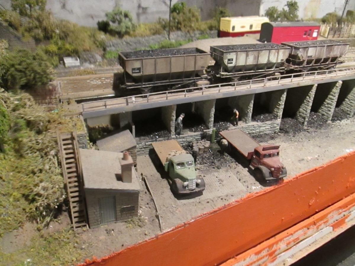Looking down over the depot with the cattle dock and low loader bay behind