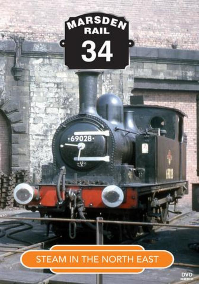 The cover of Marsden Rail (Cinerail productions) No.34 Steam In The North East available through Videoscene, below