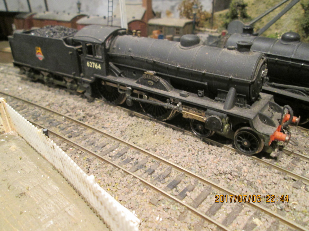 And a close-up of relatively ancient (1980s) Hornby D49, modified to D49/2, 62764 'The Garth' with the help of a Crownline converson kit.