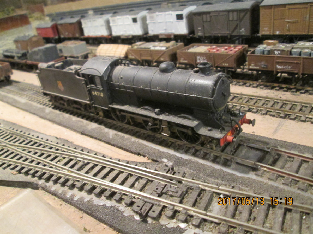 A close-up of  'old timer', Bachmann Branchline Class J39 0-6-0 64710. Renumbering and weathering have altered her appearance since first taking her out of the box. See below '...An engine passes through...' for location shot