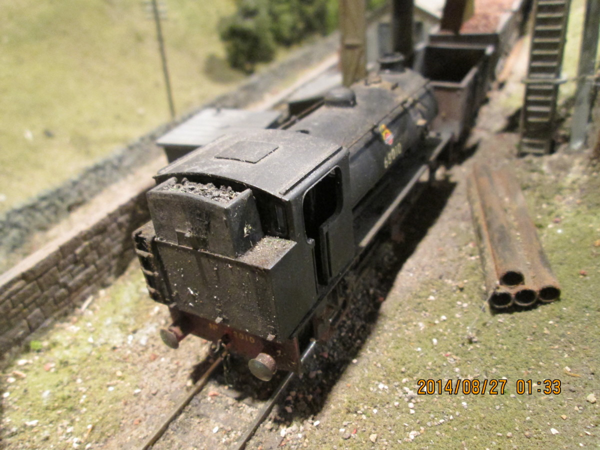 Ex-WD J94 0-6-0st 68010 simmers at the Derwent loader (51A out-shedded to Ayton Lane for mineral trip-workings and loco coal wagon shunter