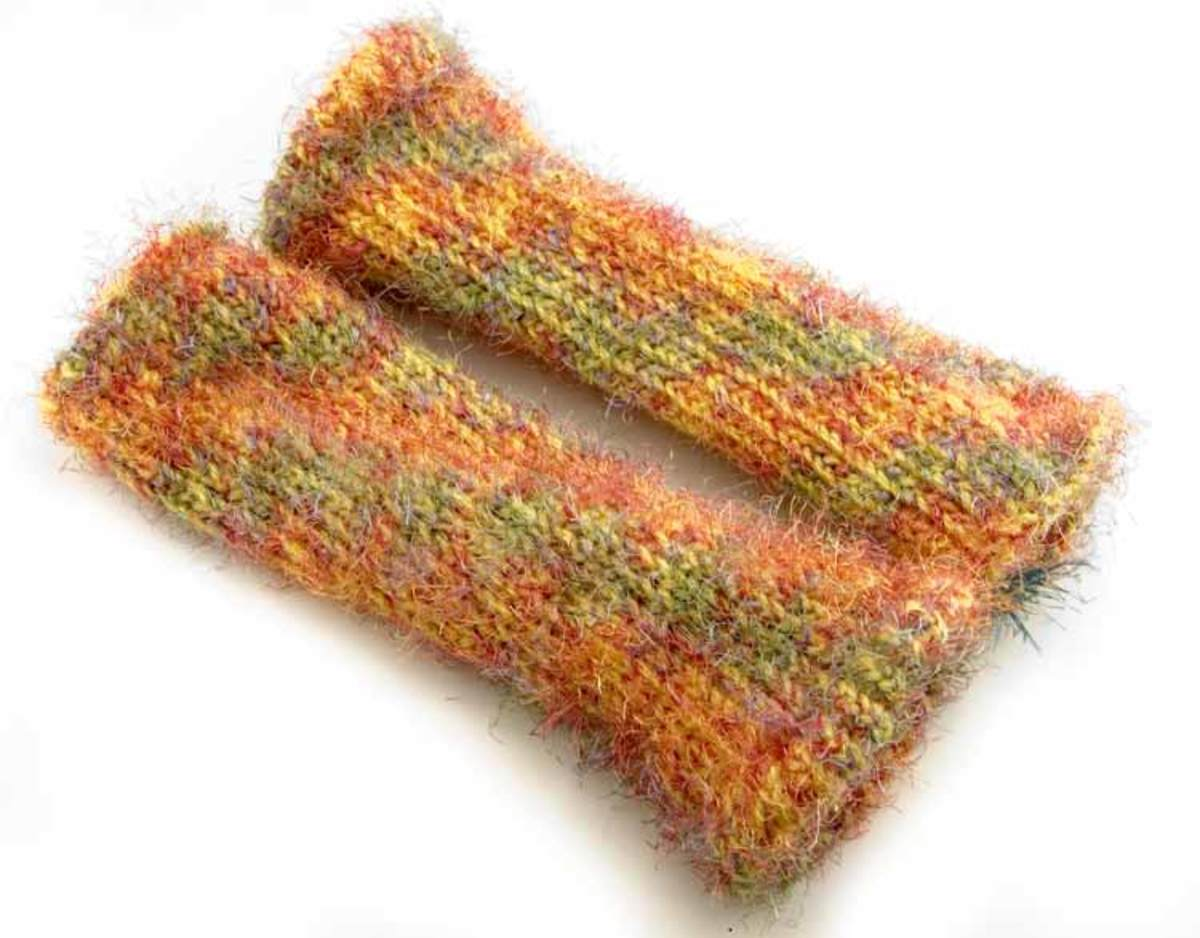 Knifty Knitter Fuzzy Leg Warmers