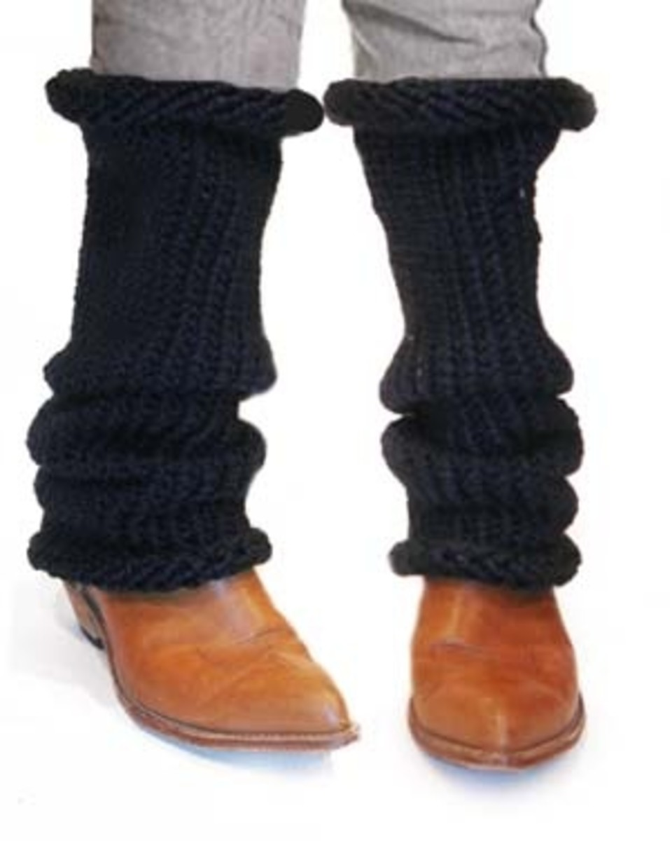Slouchy Leg Warmers for Knifty Knitter