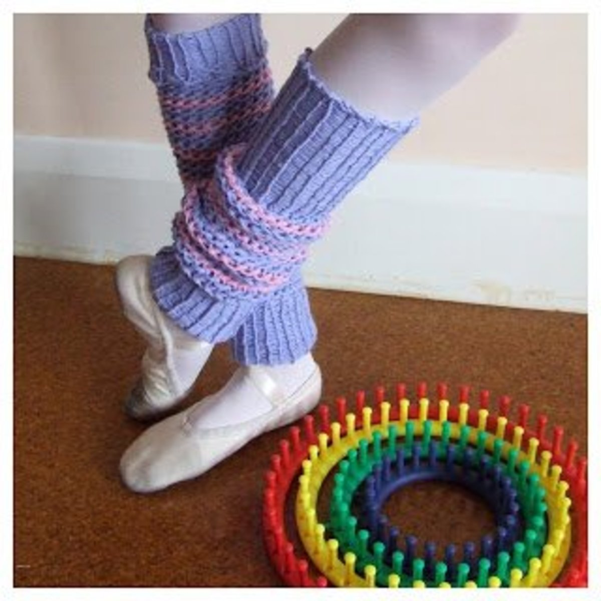 Knifty Knitter Wool Leg Warmers