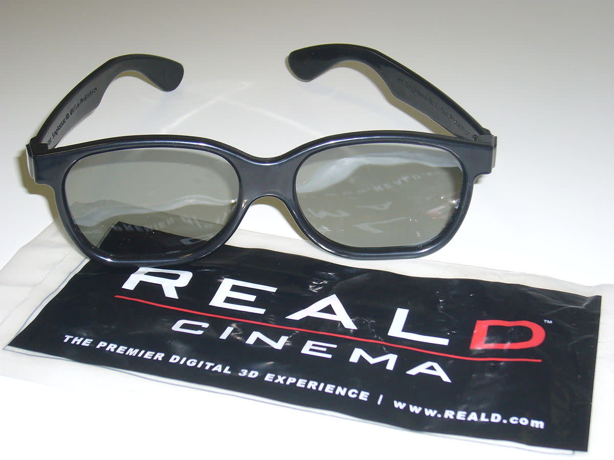 A pair of 3D glasses.