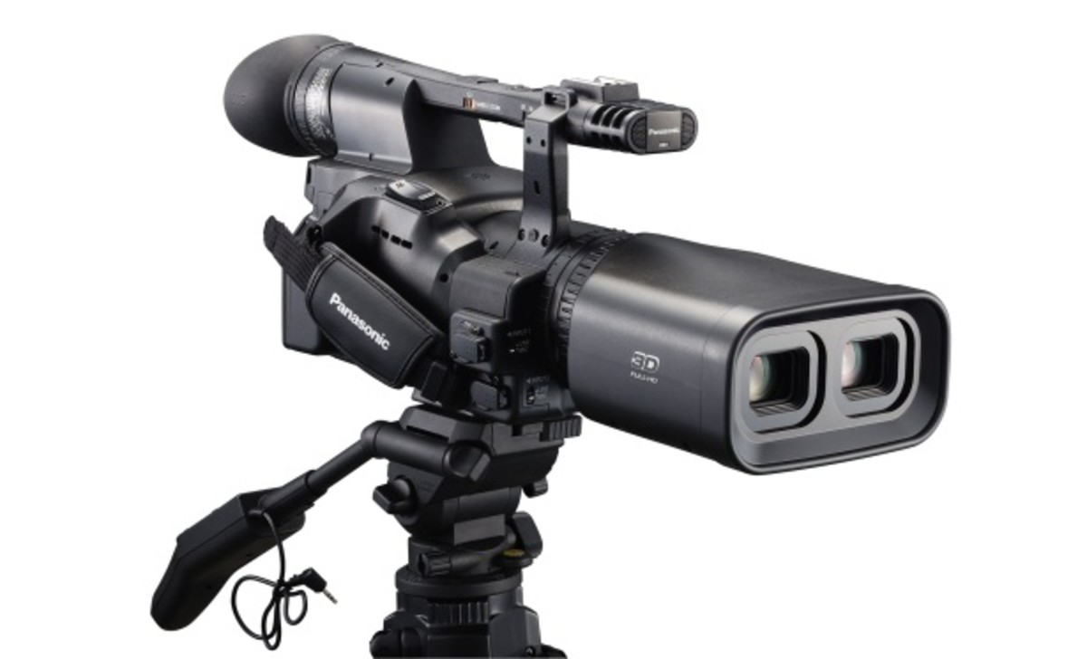 A 3d film camera. (Notice the Two lenses.)