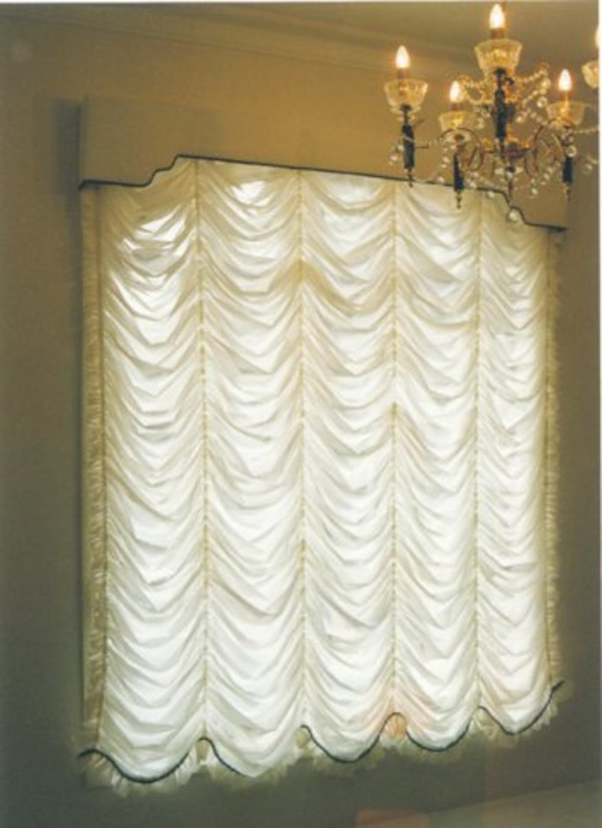 Festoon Window Blinds Fancy Window Curtains Tutorial