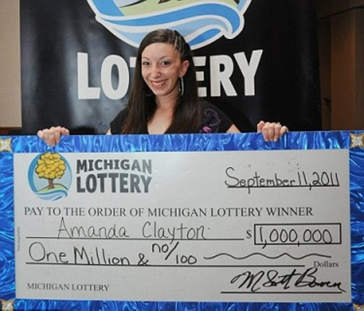 Welfare Recipient and $1 million lottery winner Amanda Clayton.