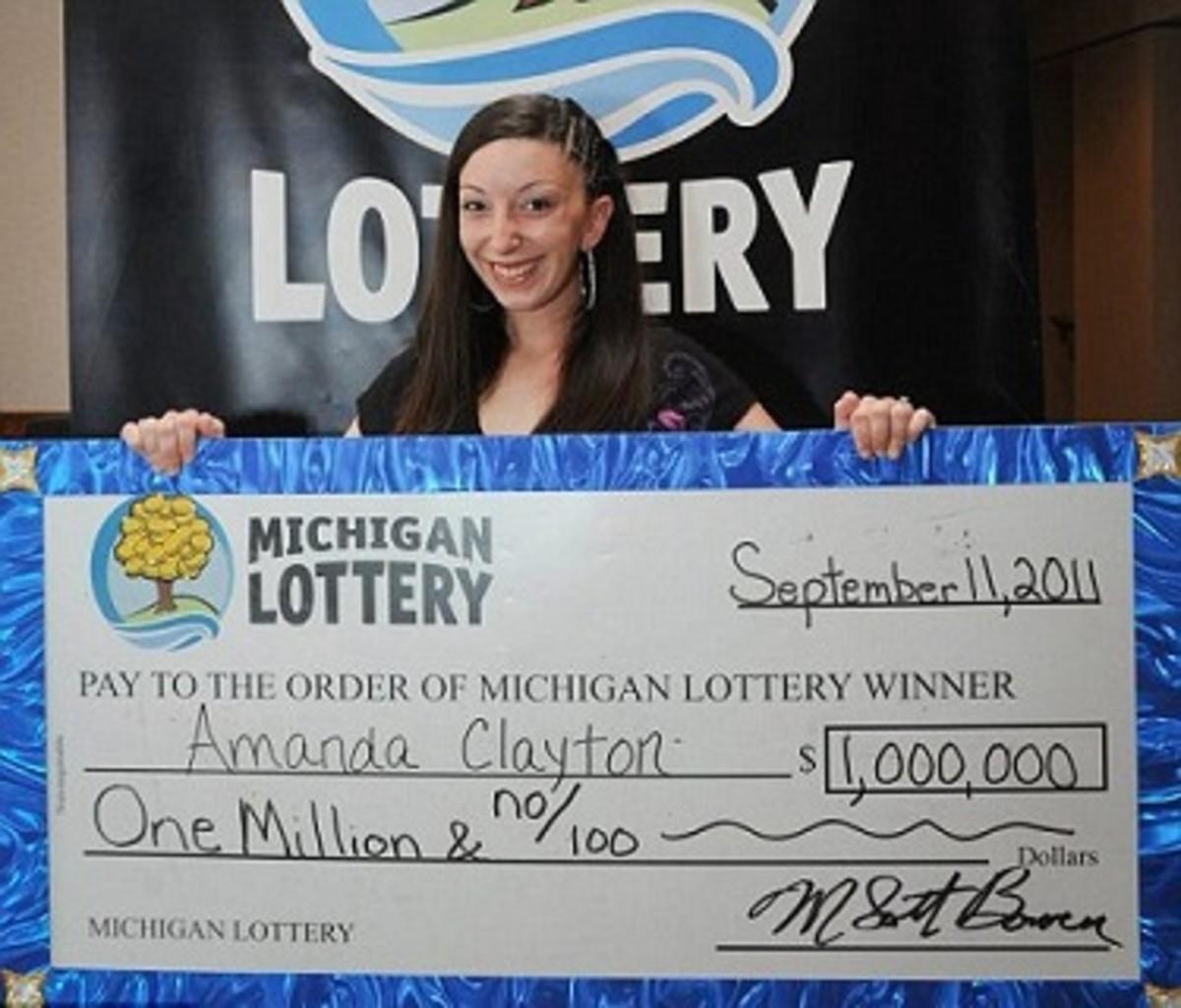 Welfare Recipient and $1 million lottery winner Amanda Clayton.