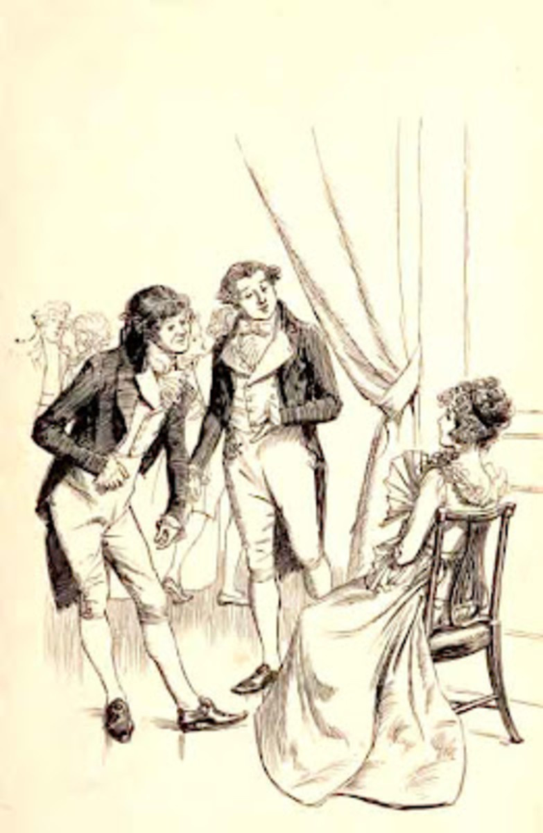 19th century Hugh Thompson  illustration for Sense and Sensibility