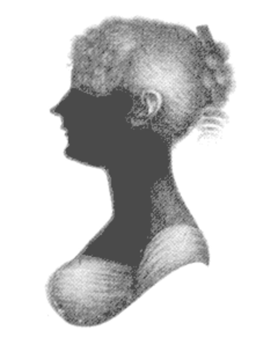 A silhouette of Jane Austen's sister, Cassandra