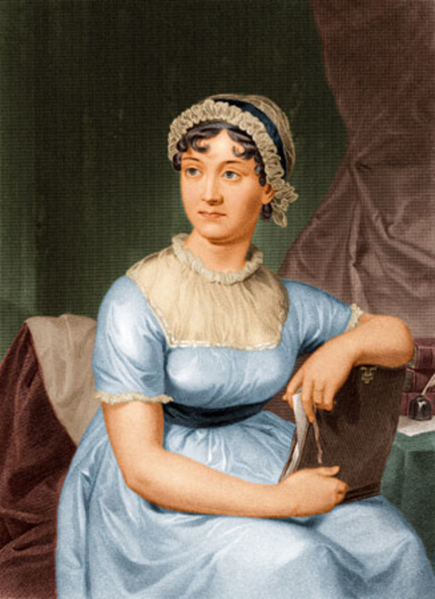Portrait of writer, Jane Austen