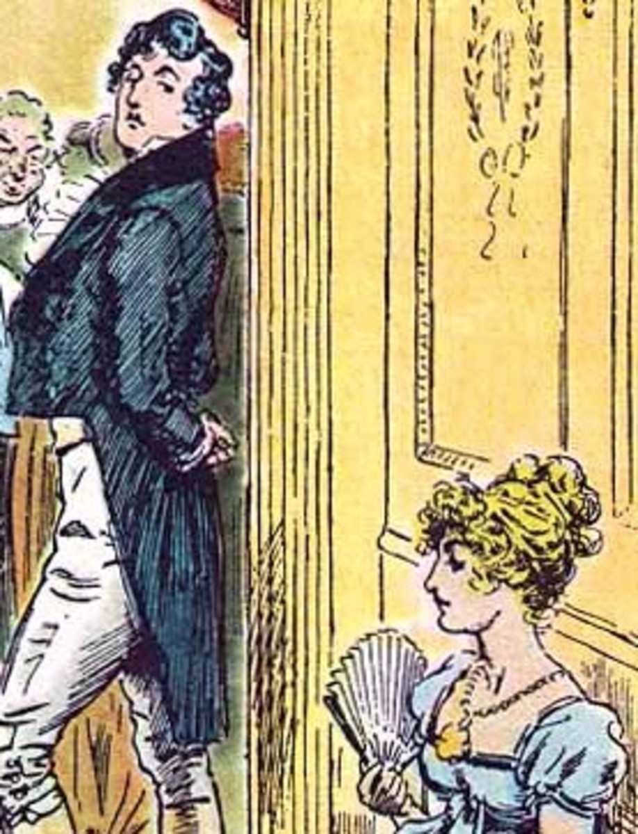 The haught y Mr Darcy. Illustration by CE, Brock for the 1895 edition of Pride and Prejudice