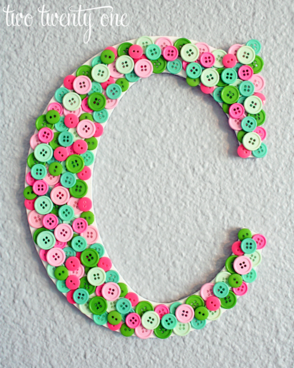 Craft Ideas Nursery on Letter Craft Decor Ideas For A Baby Nursery