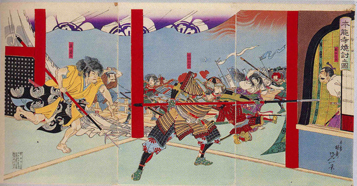 The Incident At Hinno-ji, Akechi Mitsuhide's attack on Oda Nobunaga