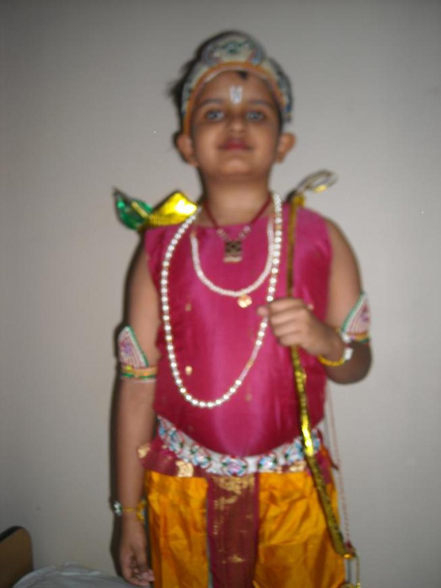 """Fancy dress for """"God Sriram"""""""