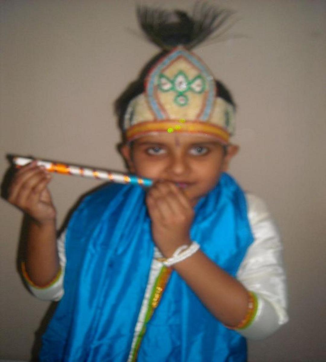 "Fancy dress for ""God Krishna"""