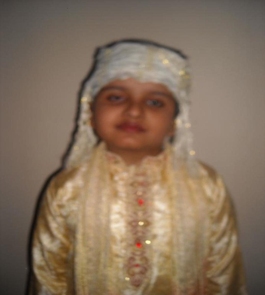 """Fancy dress for a """"North Indian bridegroom"""""""