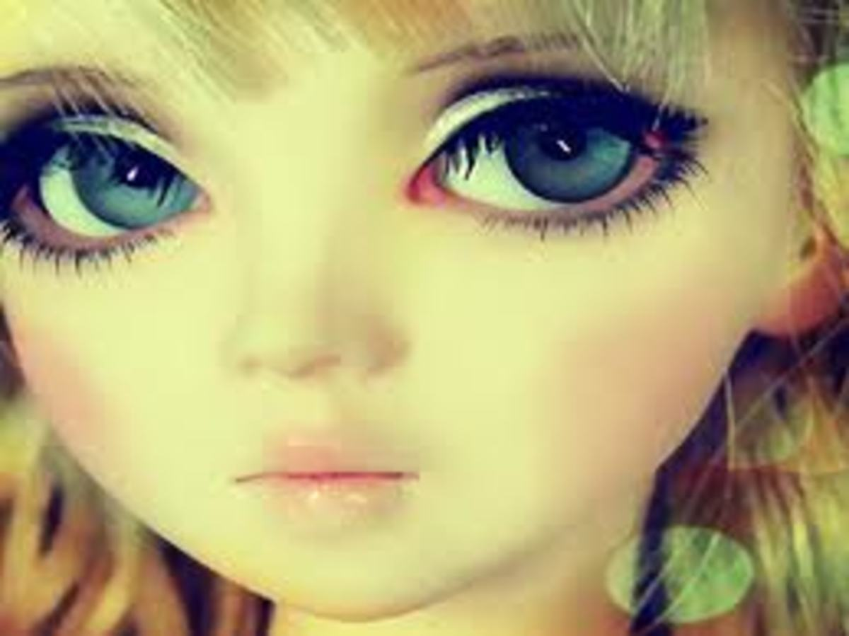 WIDE SPACED HUGE EYE DOLL