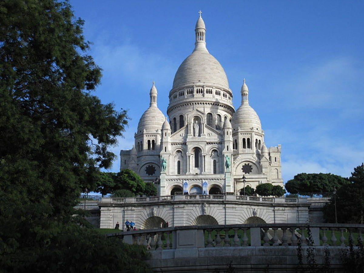 The Sacre Coeur Basilica in Montmarte