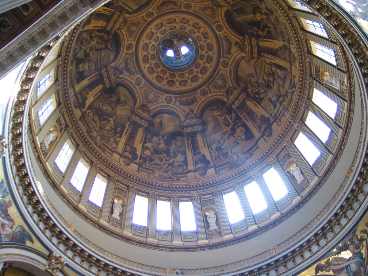 A view of the dome at St. Paul's Cathedral