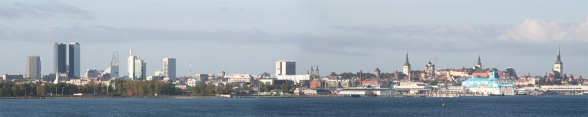Panorama of Tallinn, Estonia's capital, from the Baltic Sea