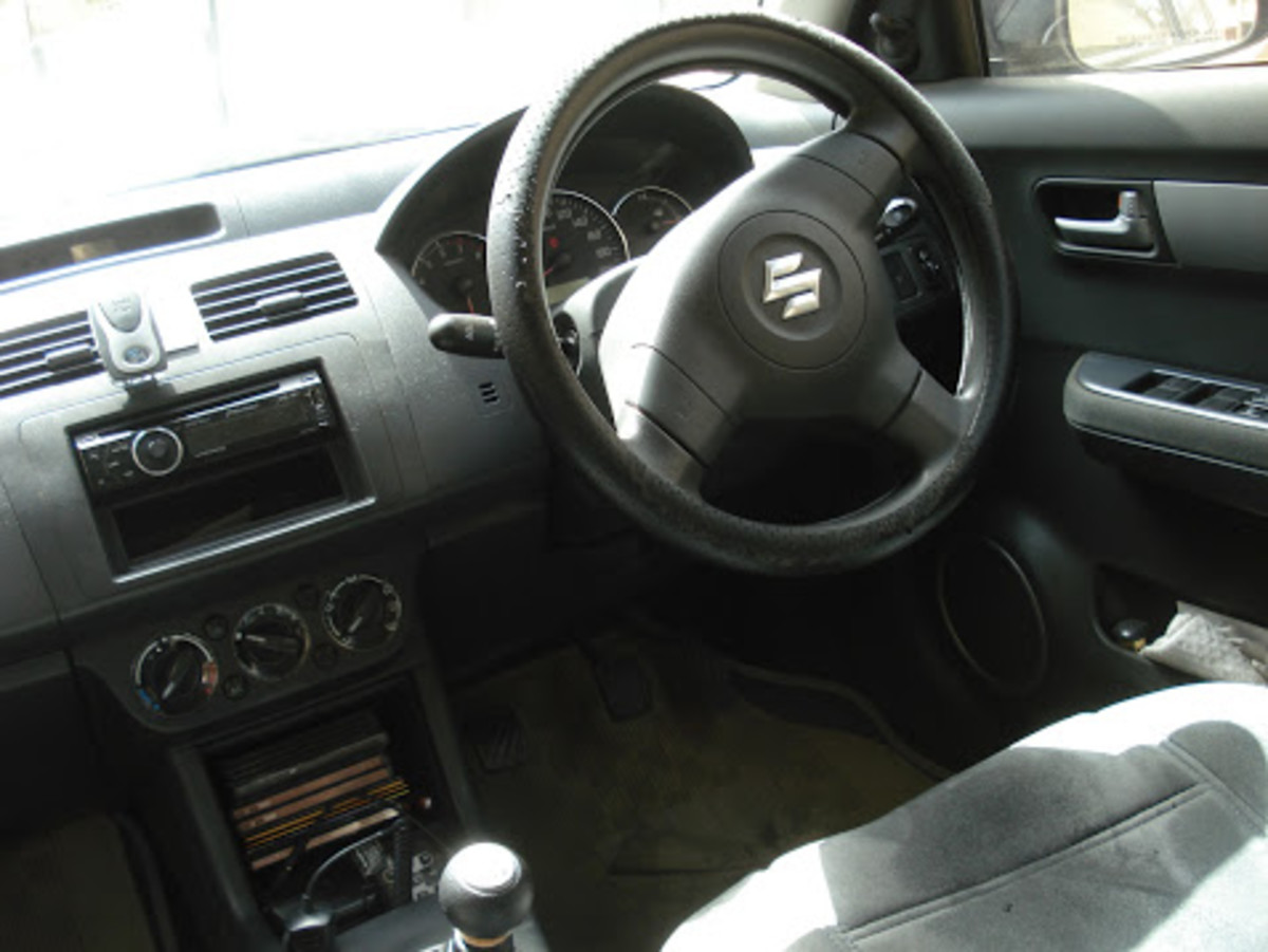 Here is a stick shift car from Maruti