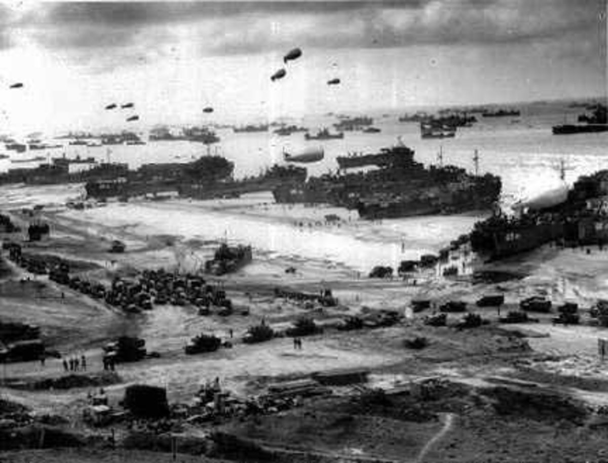 D Day Real Pictures 48 hours after D-day landing
