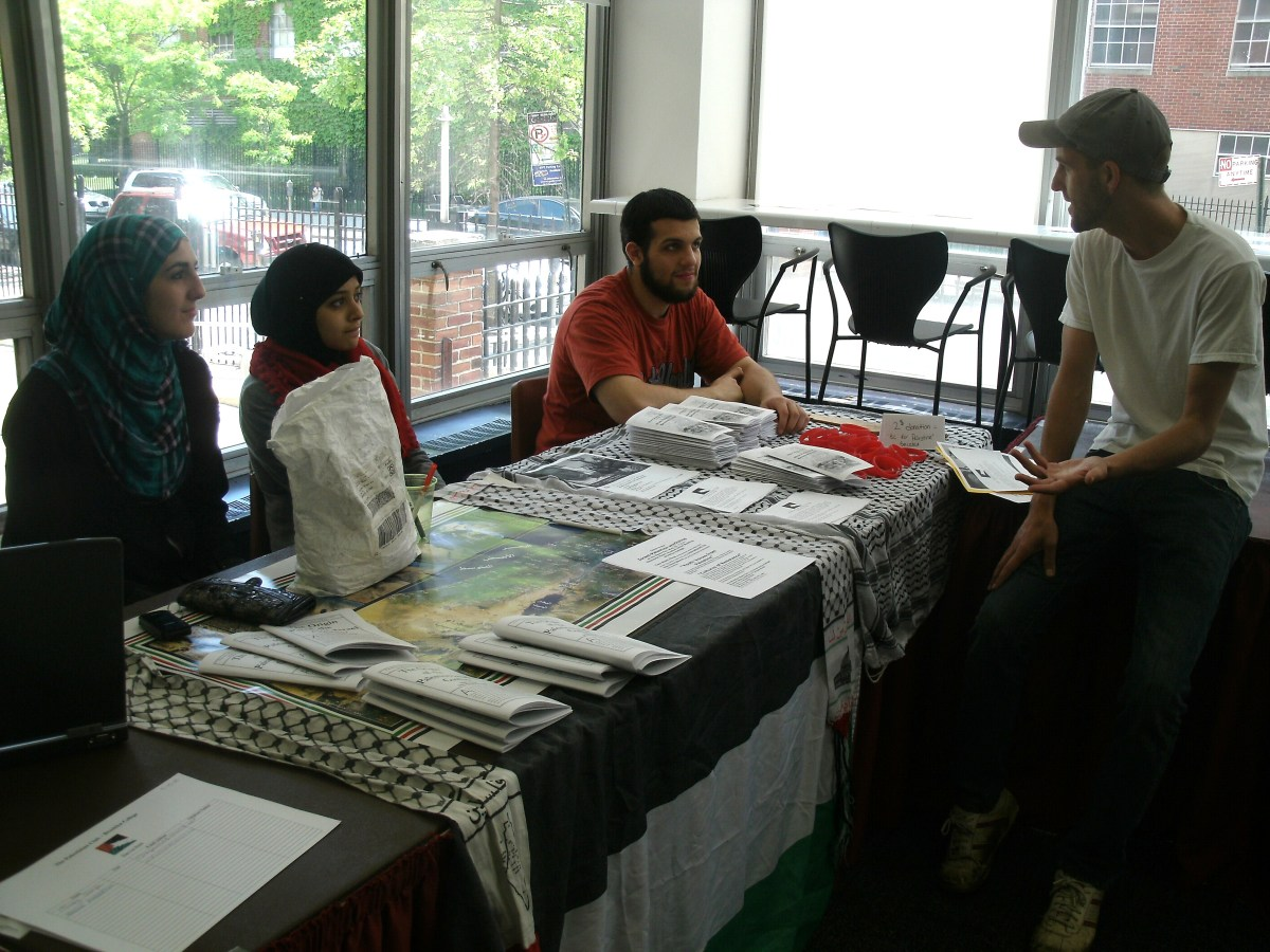 Palestinian Club/Brooklyn College table