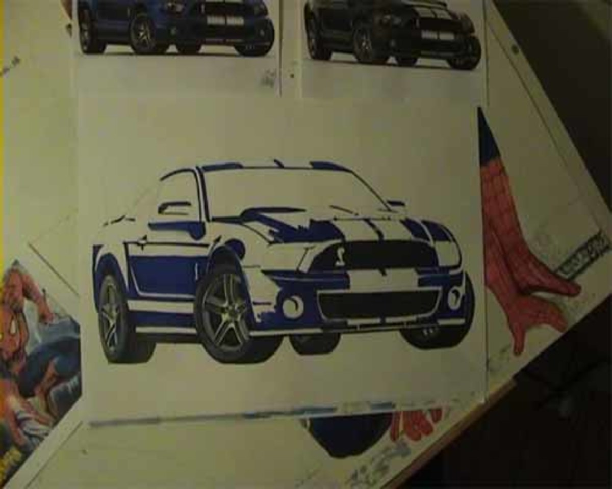 Mustang, Shelby, GT 500, now conveying meaning and definition.