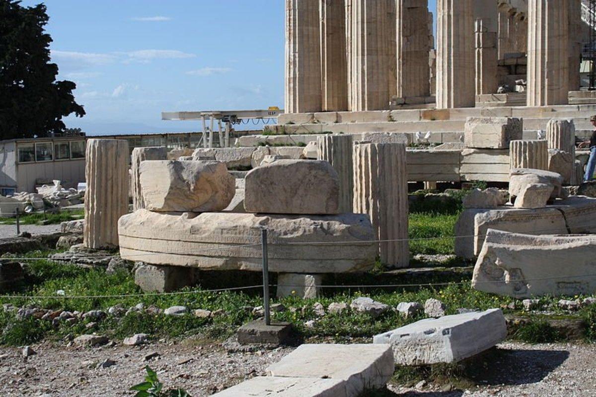 Acropolis of Athens, Temple of Rome and Augustus, next to the Parthenon.
