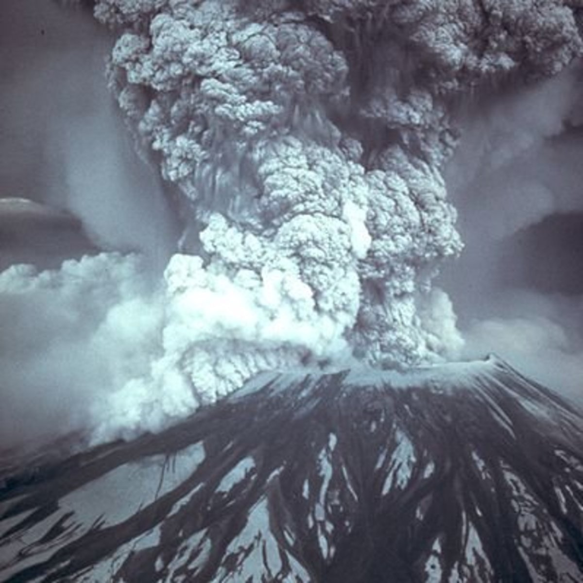 Volcanic eruption. This one is of Mount St. Helens, Oregon, 1980.