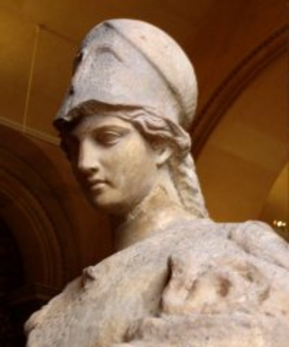First century Roman statue of Athena.