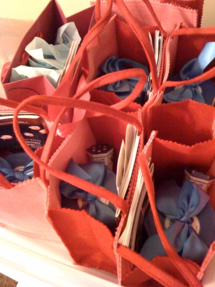 Flannel gift bags