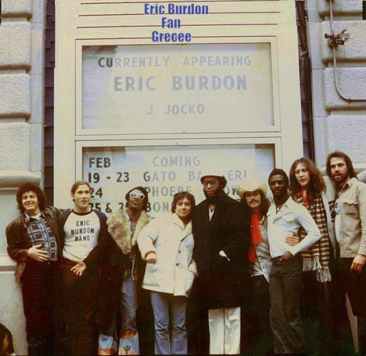 The Eric Burdon Band in 1976