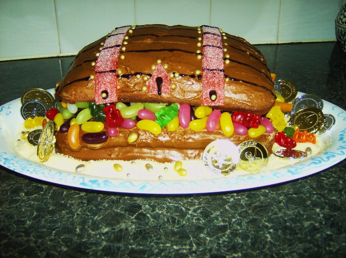 Pirate Treasure Chest Birthday Cake.