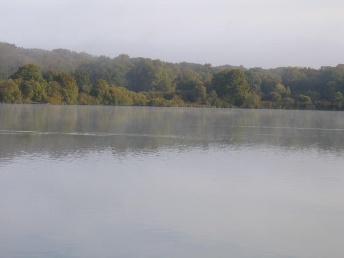 Angling Chateau Lake France.
