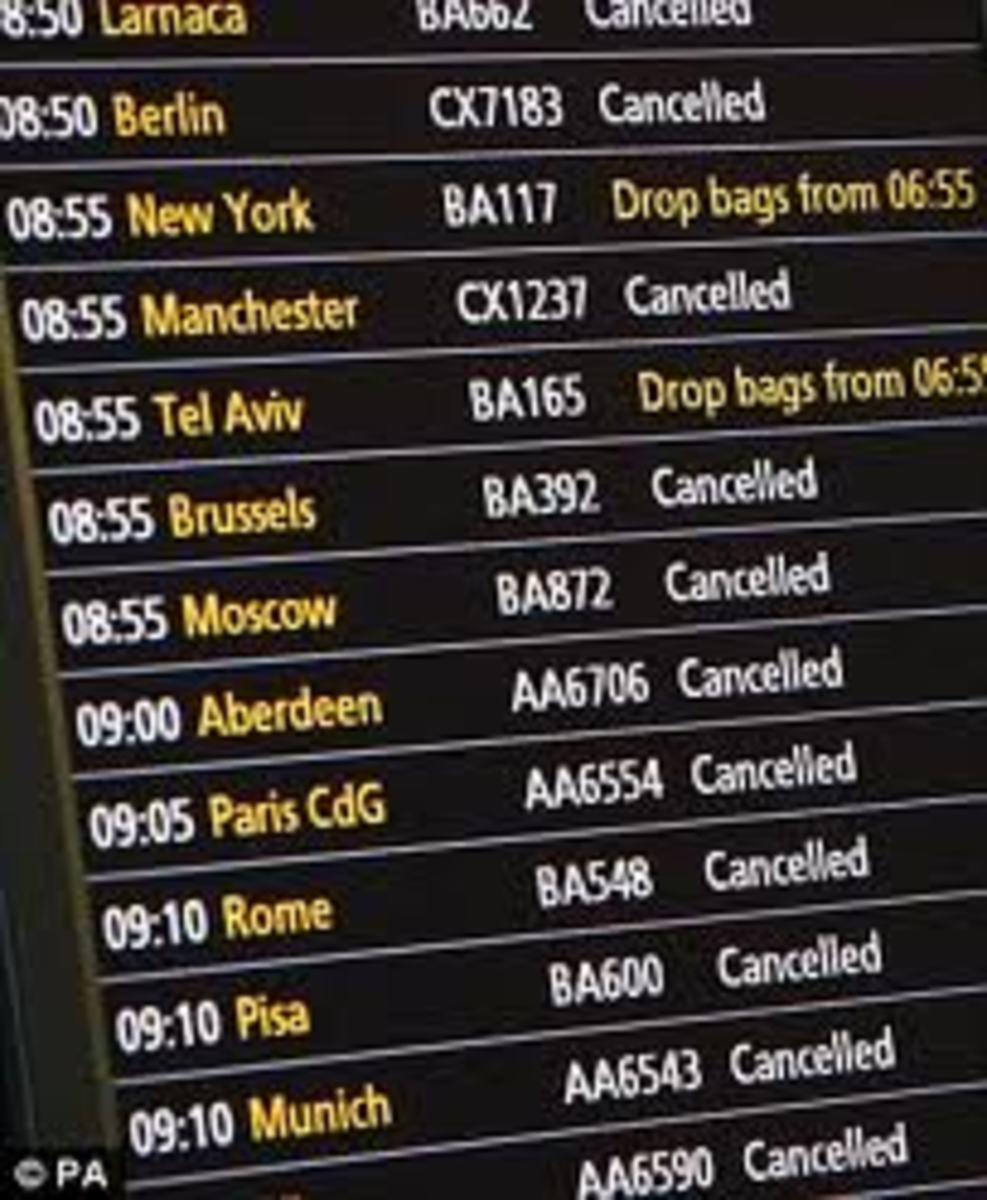 Ireland's airports reopen after ash clouds from Iceland's Volcano Eruption causes air traffic disruption around the globe.