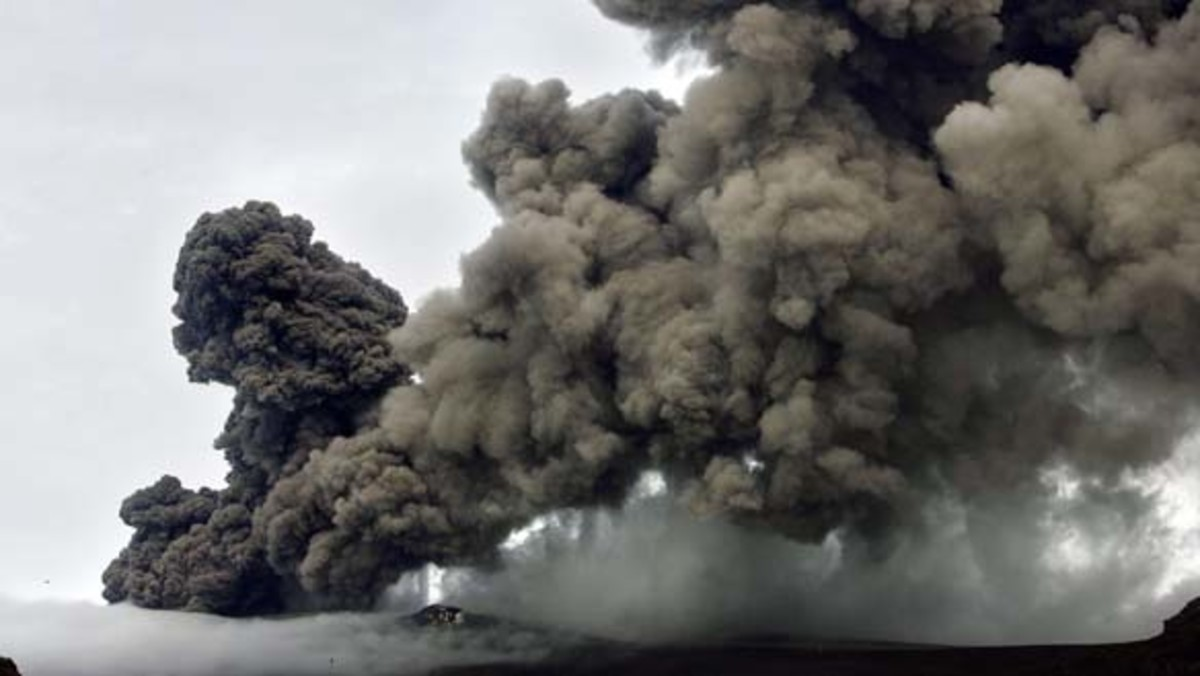 Iceland's Volcano Erupts causing disruptions to air traffic around the World.