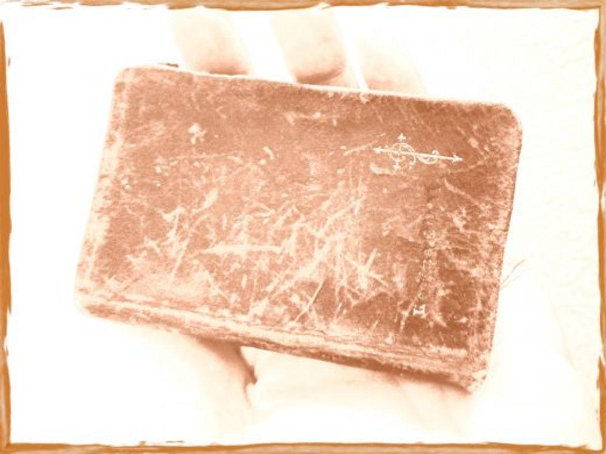 Palm sized German prayer book that belonged to my grandmother.