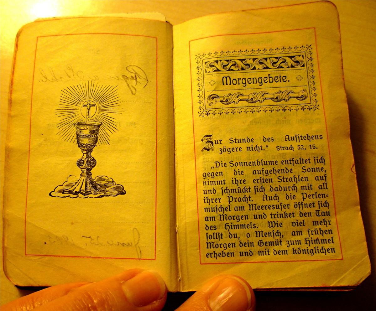Antique German prayer book