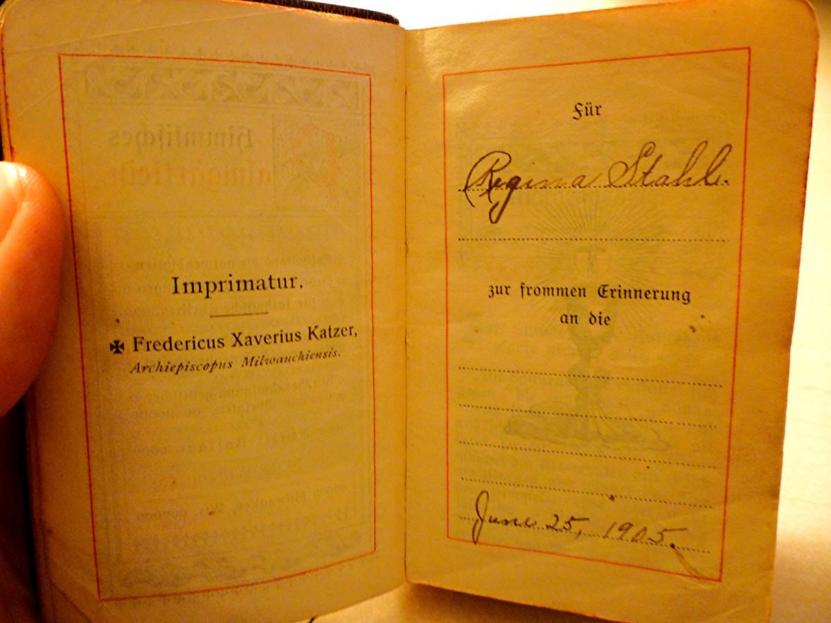 My grandmother's antique German prayer book.