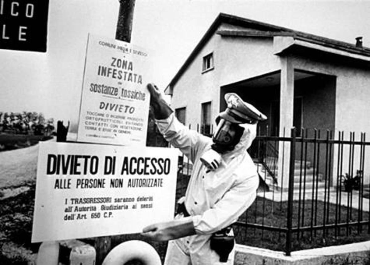 prohibition of access, contaminated area