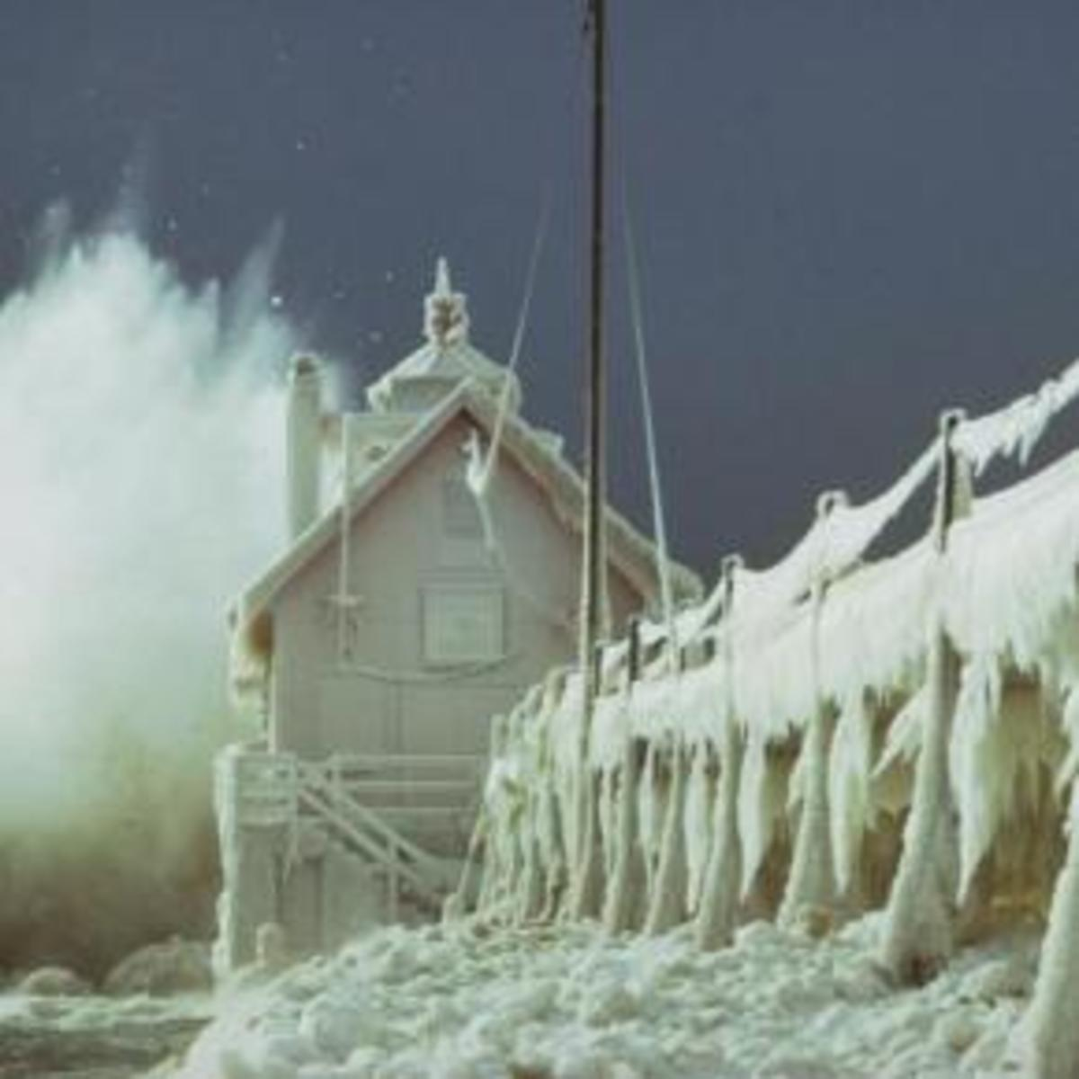 Winter ice on Lake Michigan