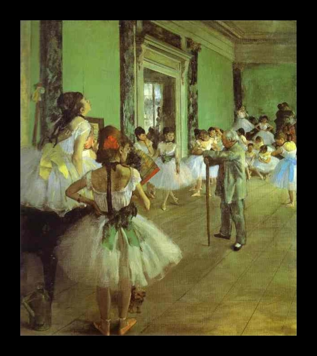 DEGAS' DANCE CLASS (1874)
