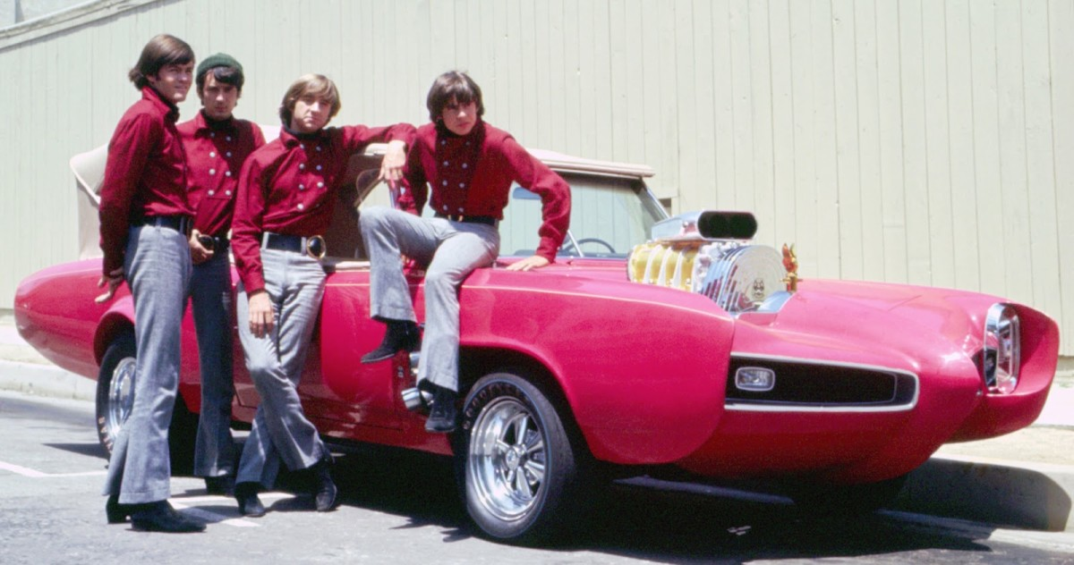 The Monkeemobile and the Monkees