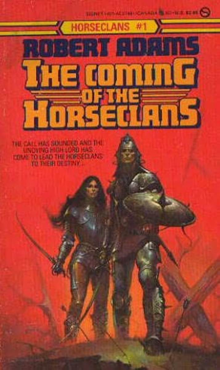 Cover to The Coming of the Horseclans by Robert Adams.
