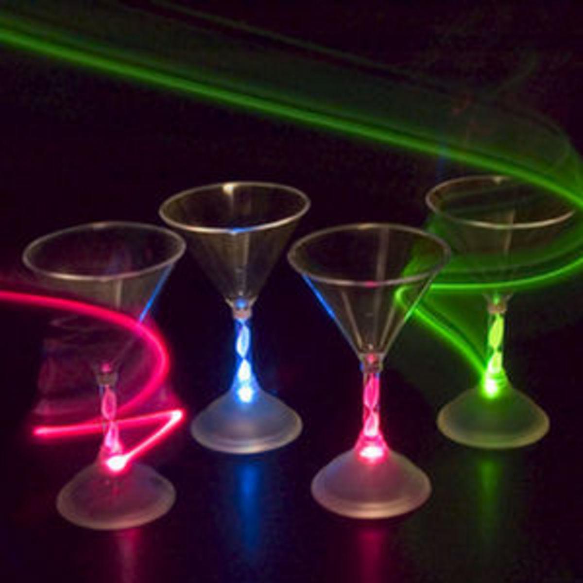 Light Up Martini Glasses