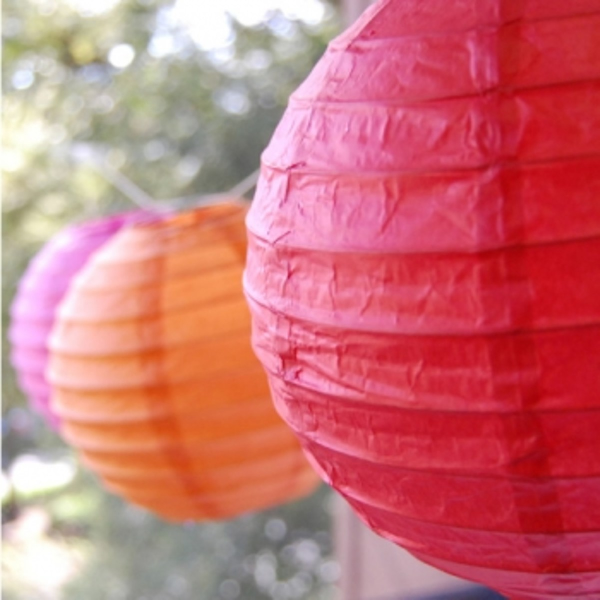 Paper Lanterns from Amazon