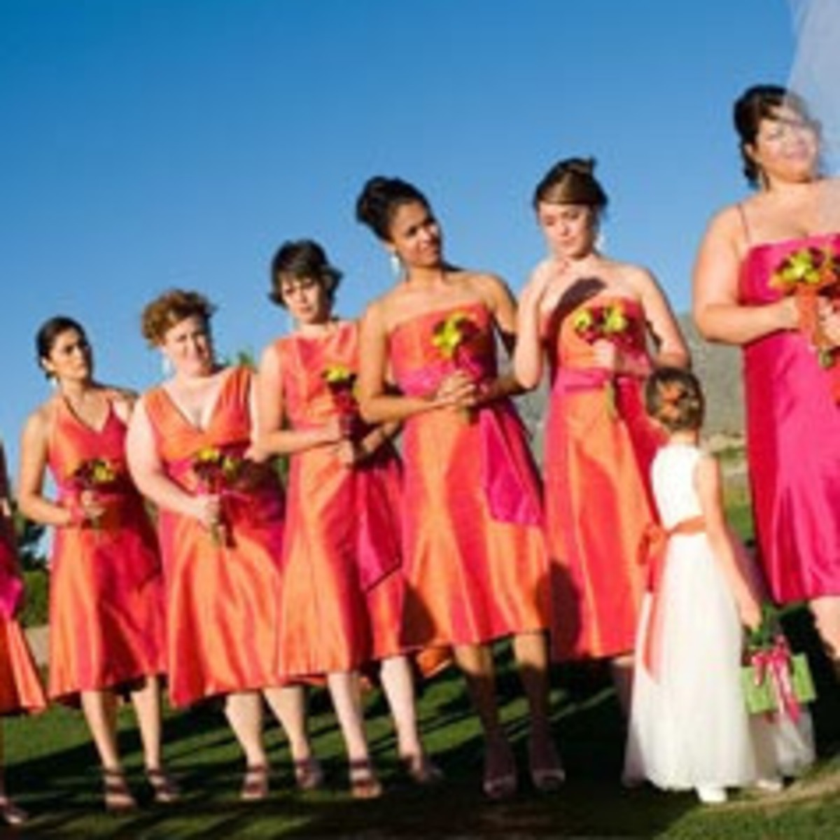Orange & Pink Fuchsia Wedding Ideas